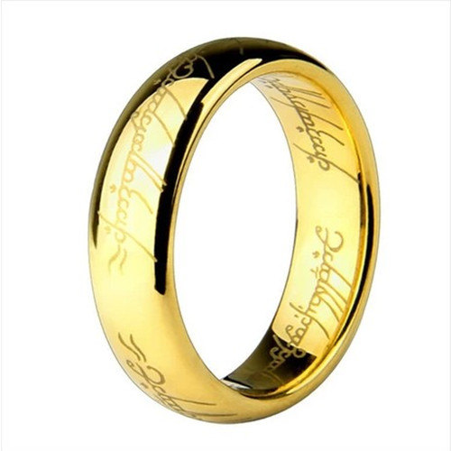 """The Hobbit & Lord of the Rings """"One Ring to Rule Them All"""" 18k Gold ..."""